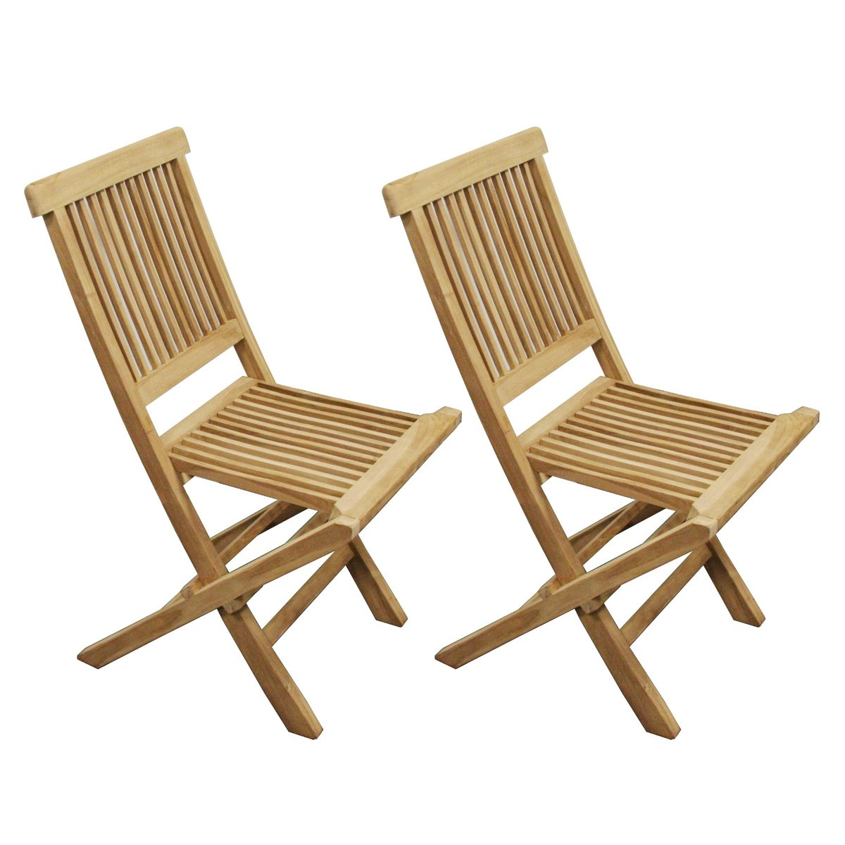 2 chaises Manille Teck brut