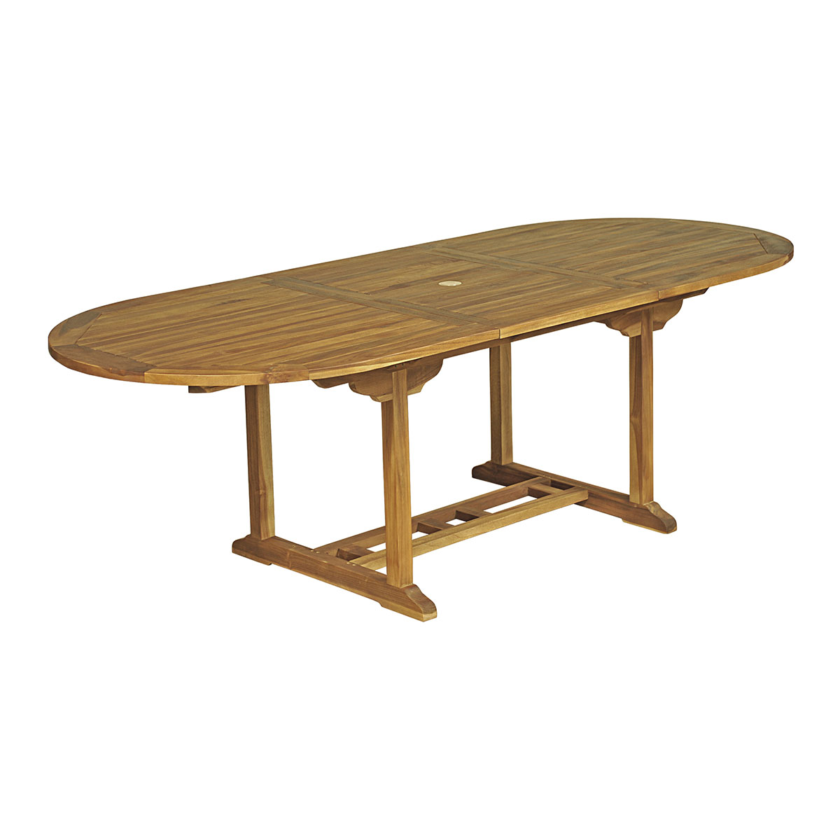 Table ovale Baya L 180/240 - 100 - Teck Huilé