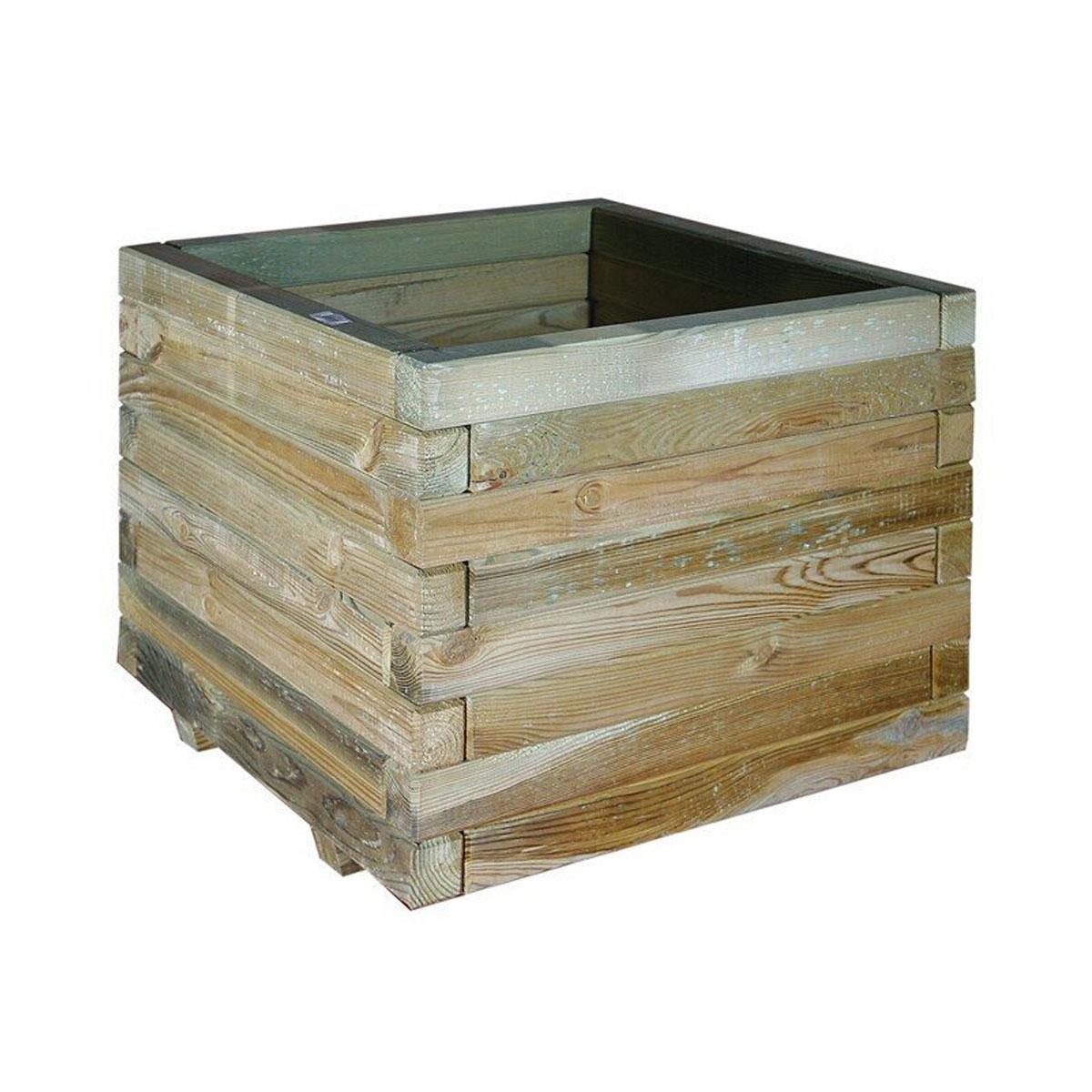 Jardinière carrée en bois Jonquille 50