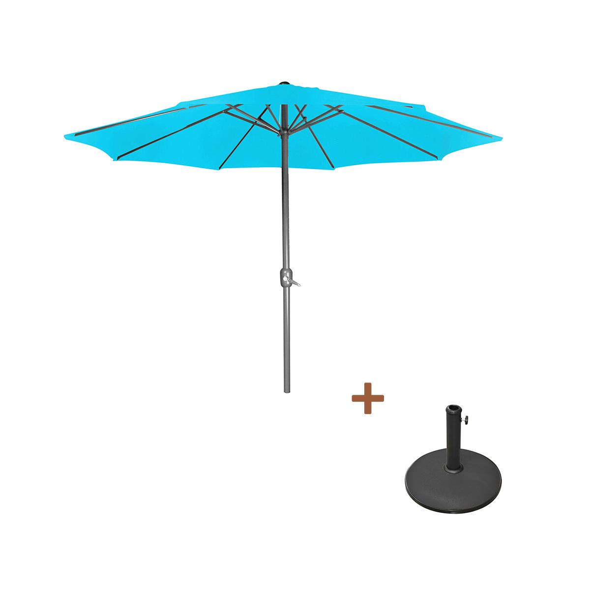 Lampe solaire avec parapluie bleu Kynast Garden Solaire Lumière Éclairage de jardin table 19 cm