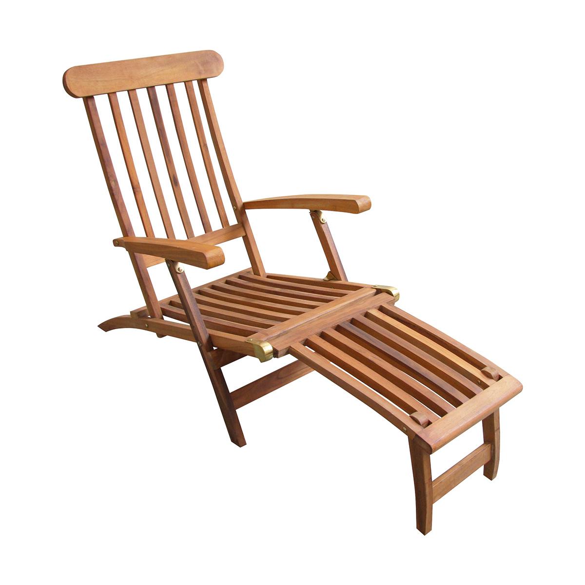 Chaise longue Baya en Teck