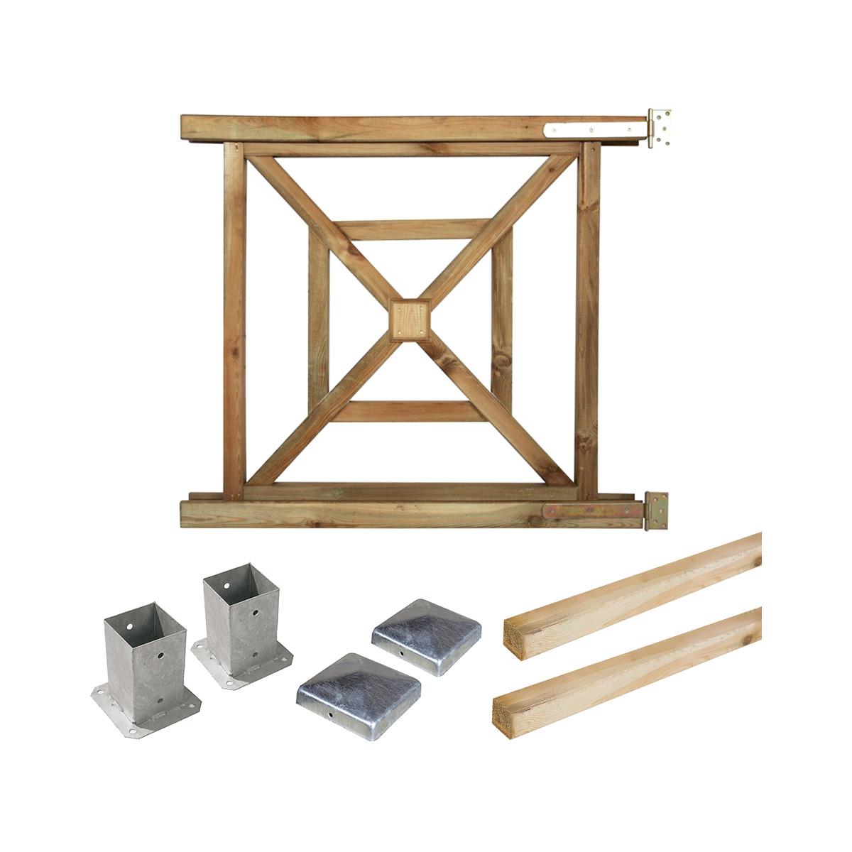 Portillon Kit en bois bégonia à fixer