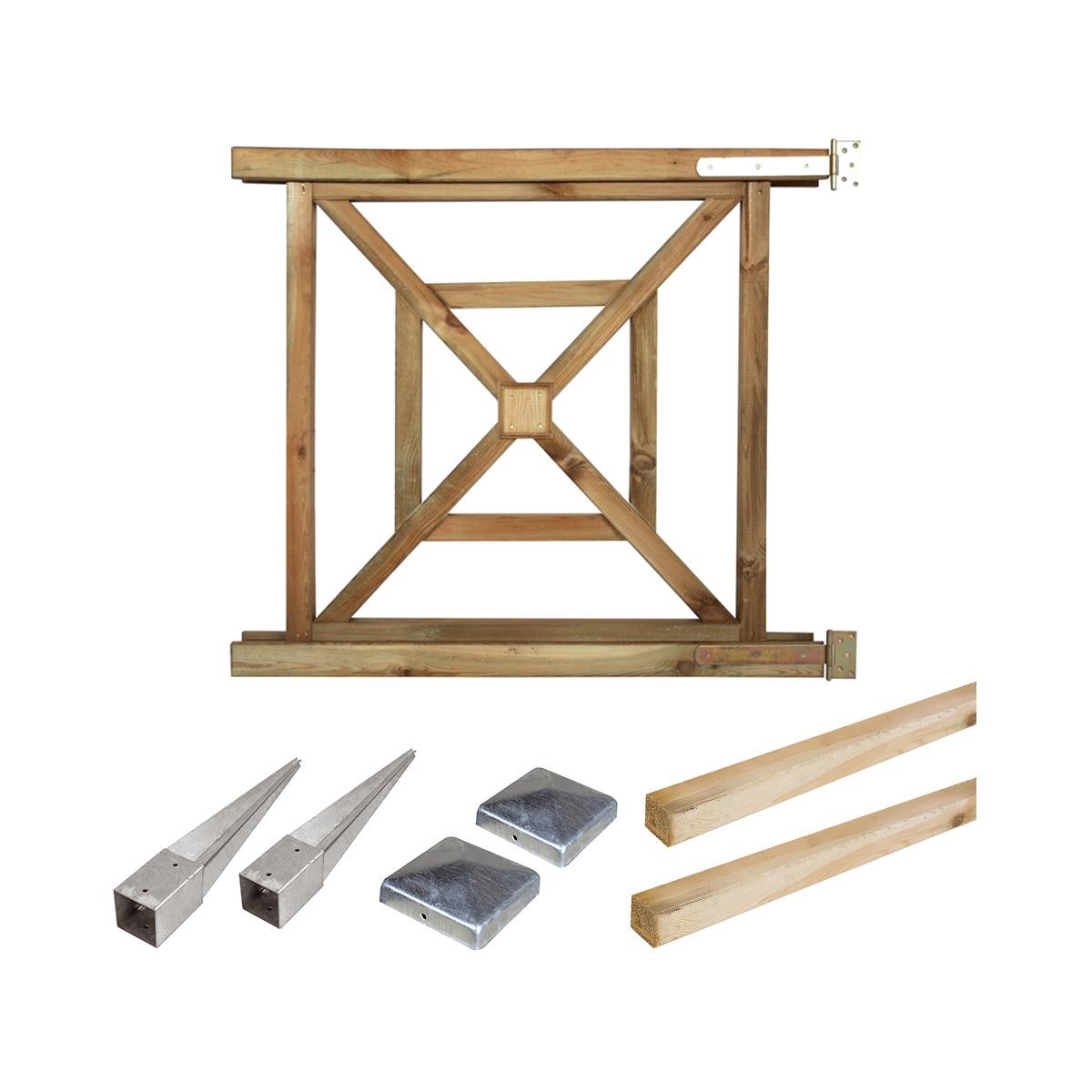 Portillon Kit en bois bégonia à enfoncer