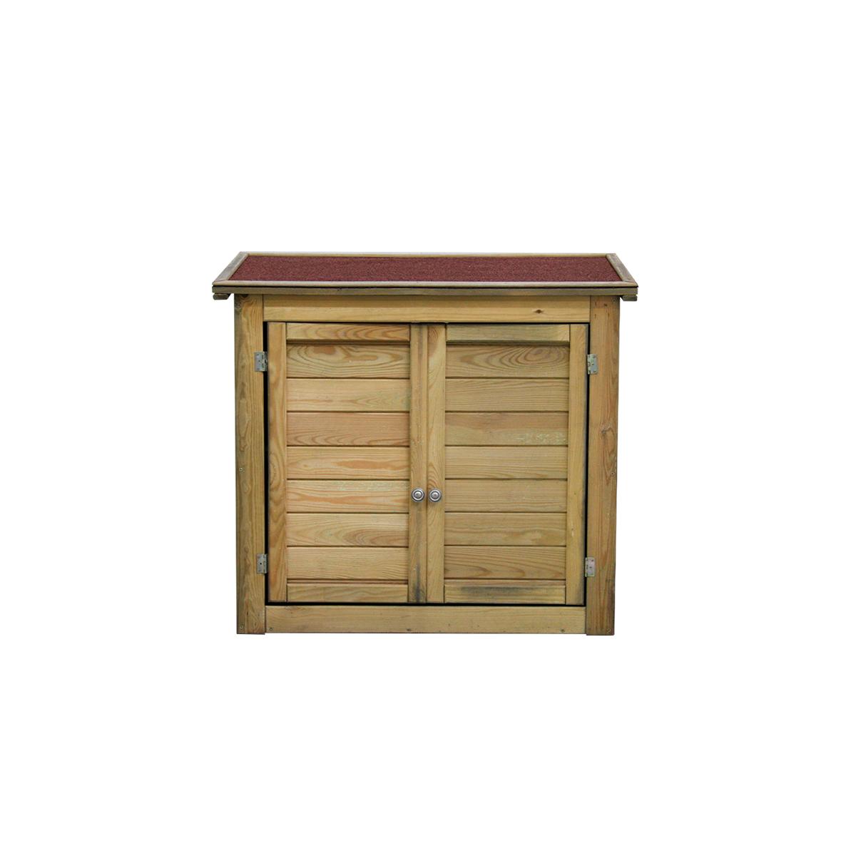 Armoire de rangement en bois lisboa petit mod le for Petite armoire de rangement