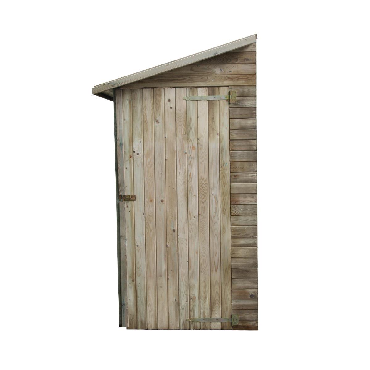 Armoire de rangement de jardin adossé en bois traité 2.63m², Elisa