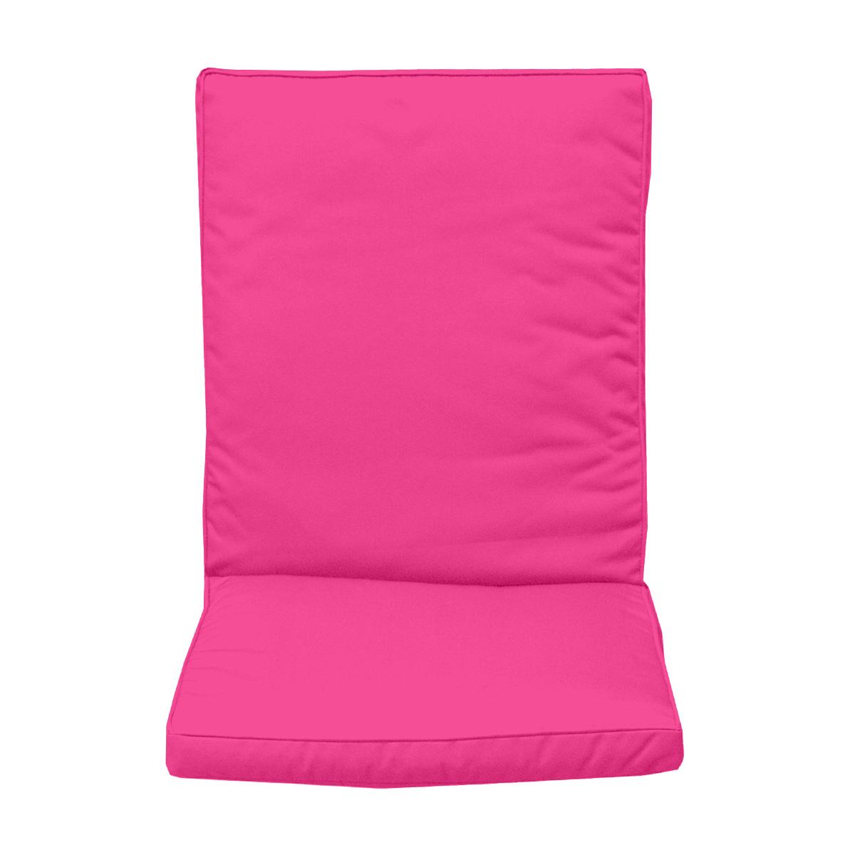 Coussin de dossier pour fauteuil fuchsia