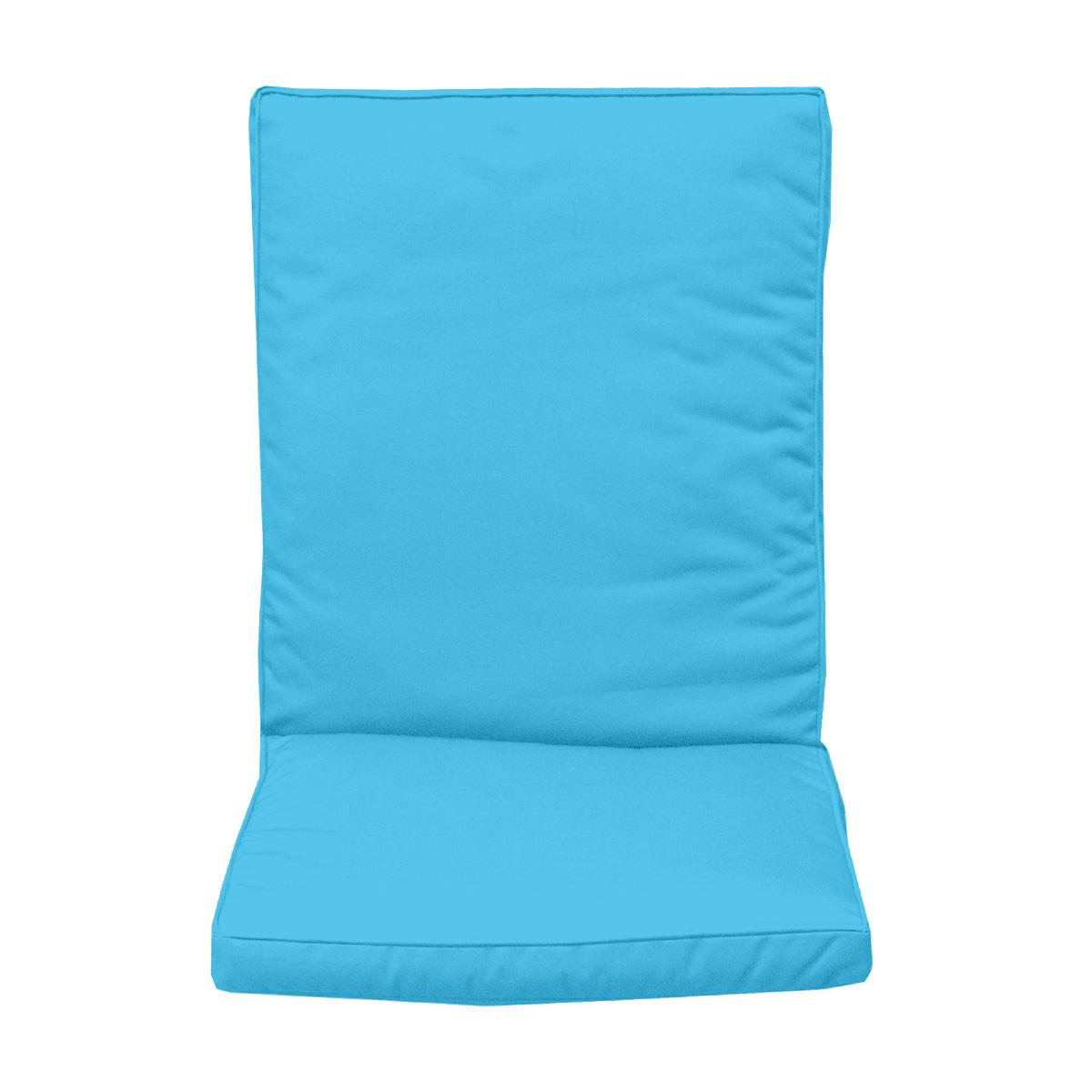Coussin de dossier pour fauteuil turquoise