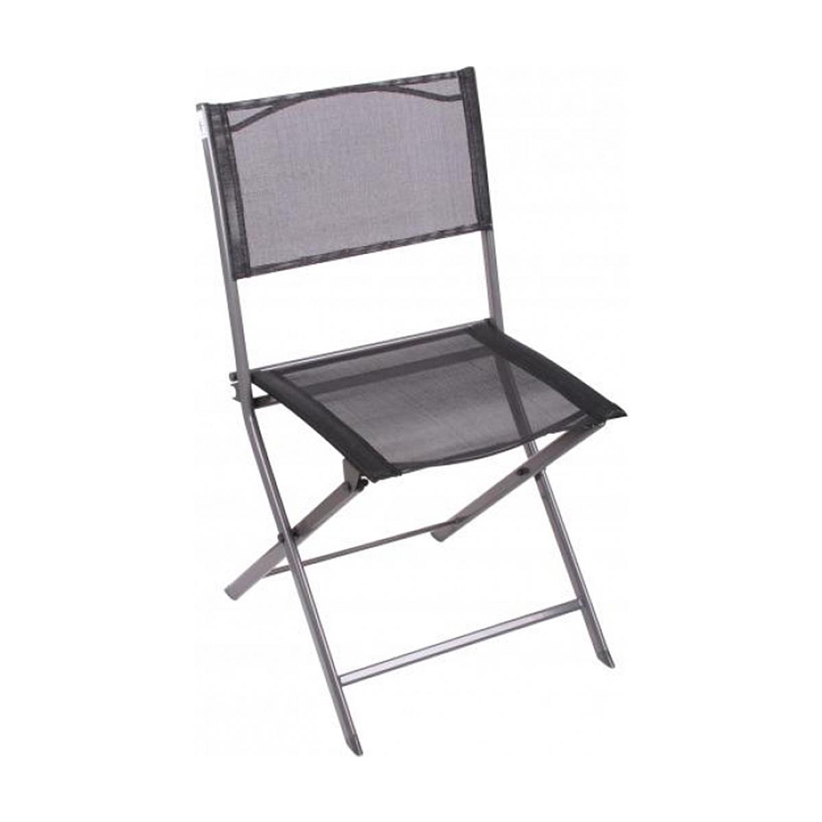 Chaise Pliable gris et noir