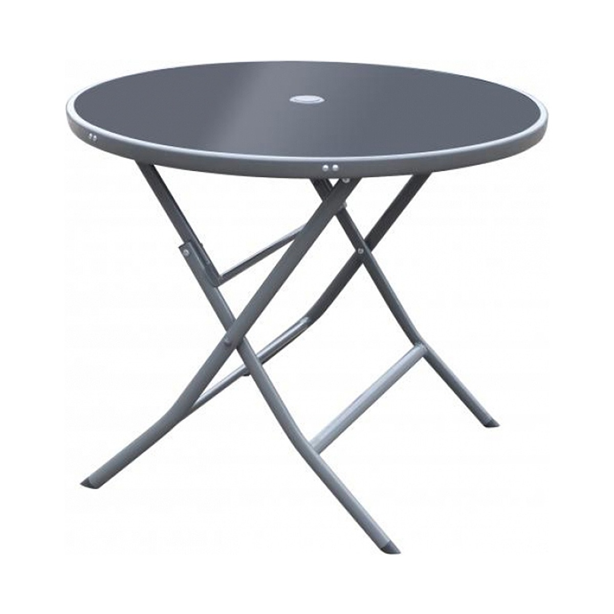 Table Ø 90 cm - gris & noir