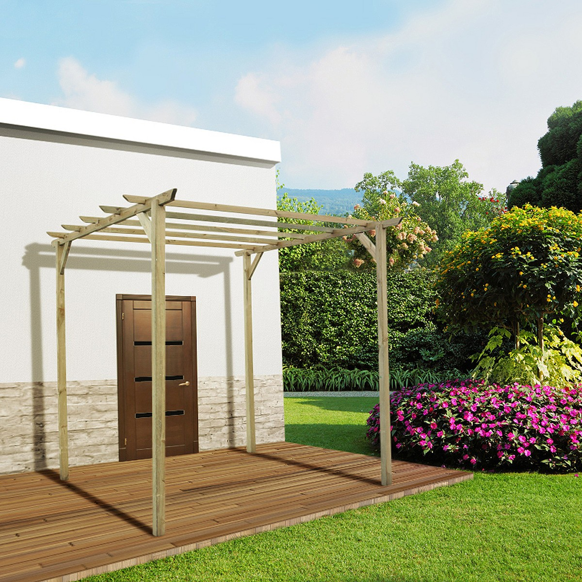 jardin pergola achat vente de jardin pas cher. Black Bedroom Furniture Sets. Home Design Ideas
