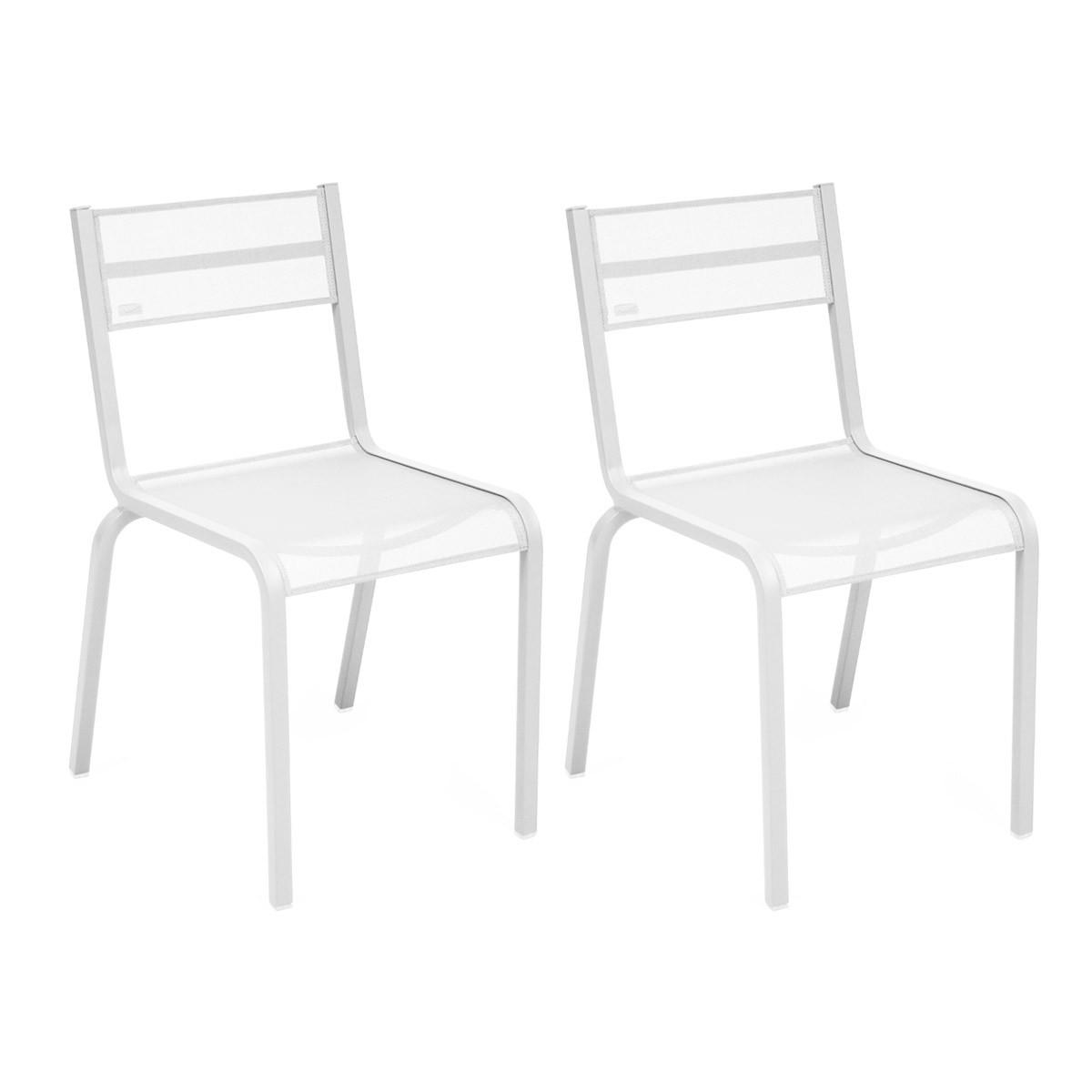 2 Chaises oléron blanc