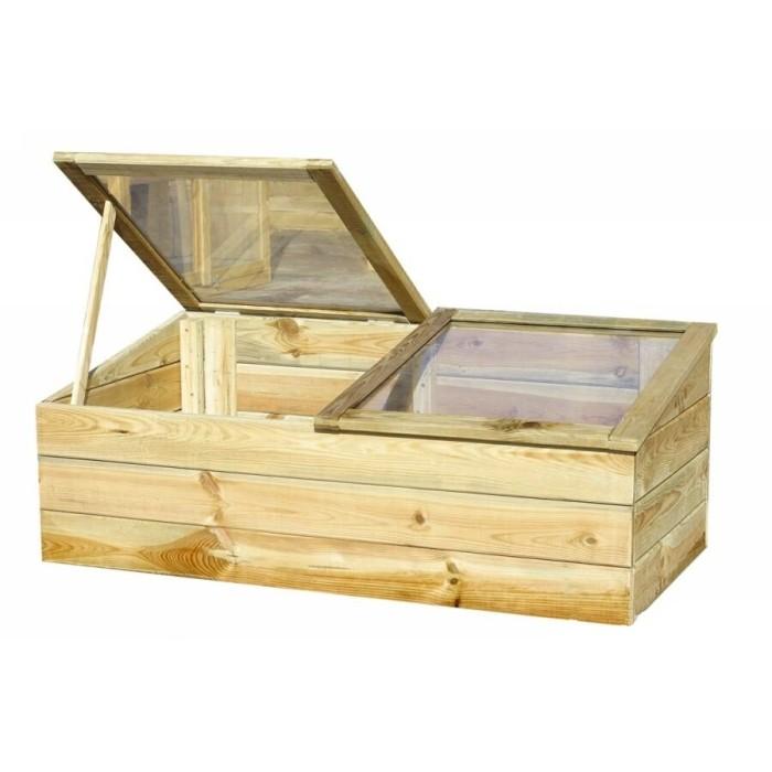 Serre en bois modèle Venezia en pin sylvestre traité autoclave classe III
