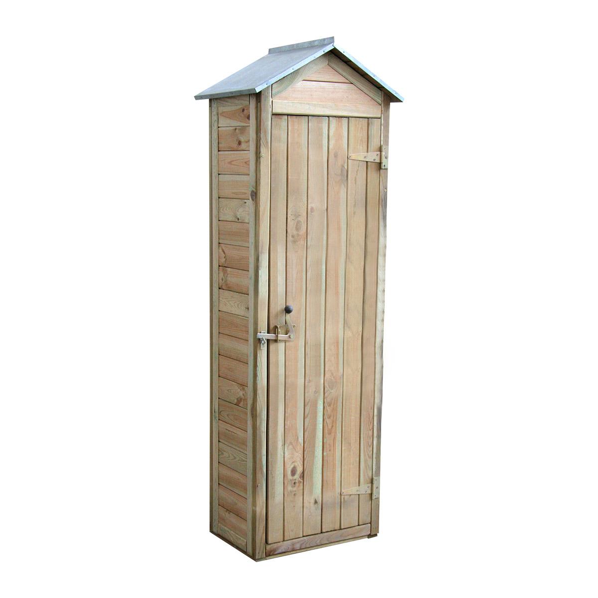 Armoire de rangement de jardin en bois traité 180x60x43cm, Panama