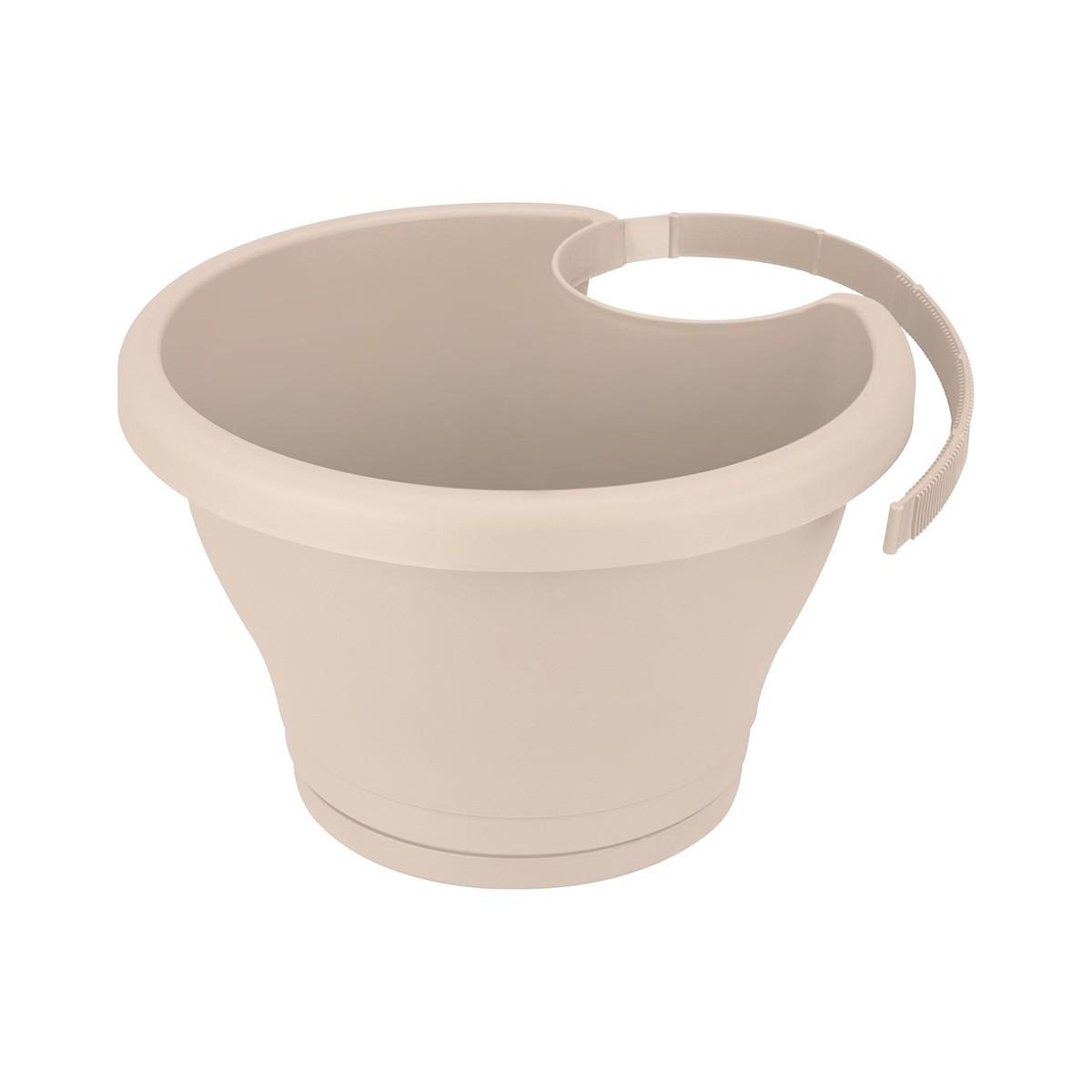 Pot de fleurs Corsica clip gouttière Sable - Elho