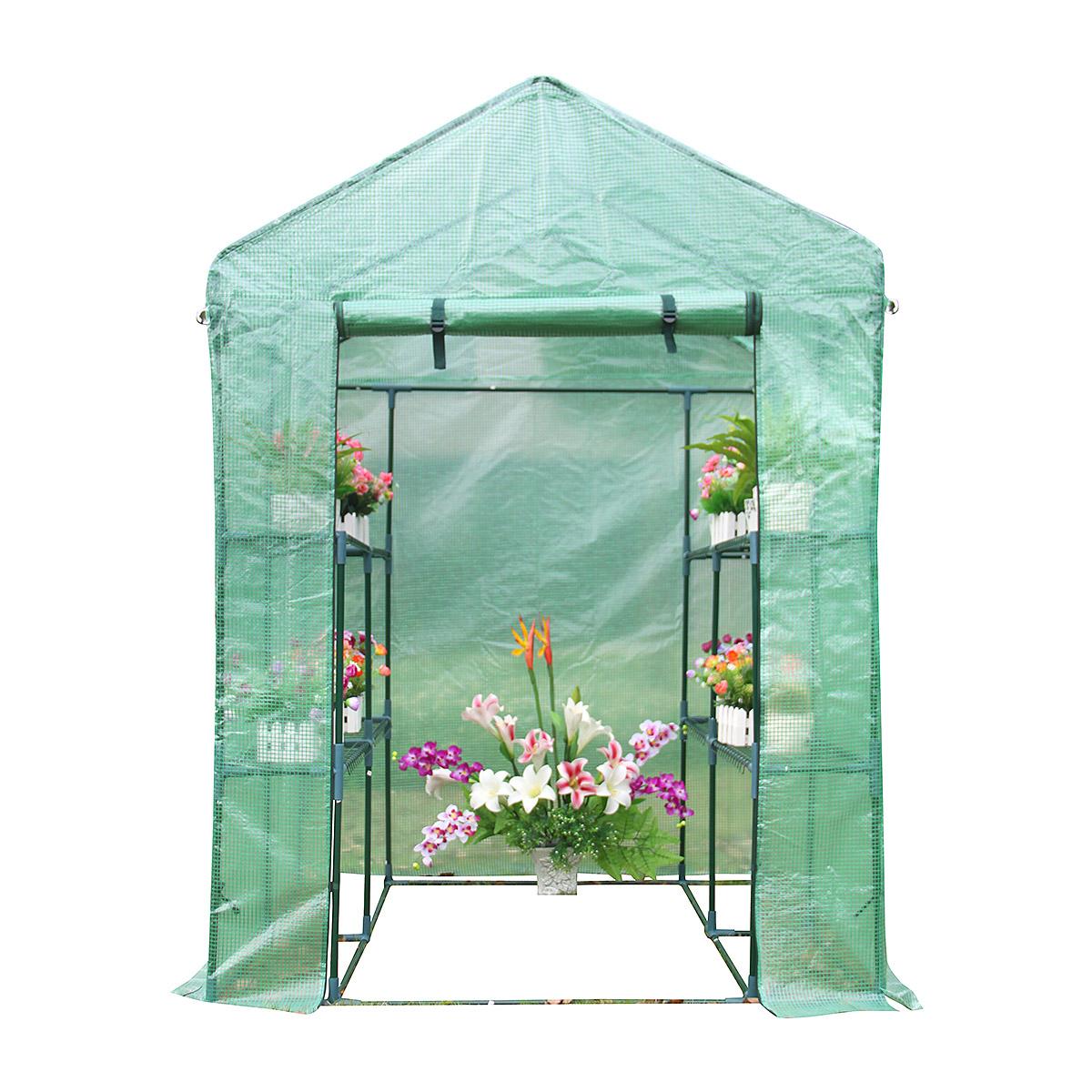 Serre de jardin en polyéthylène 2 m²