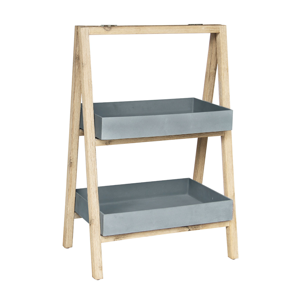 Etagère Freesia petit modèle gris en bois et grès SANDSTONE