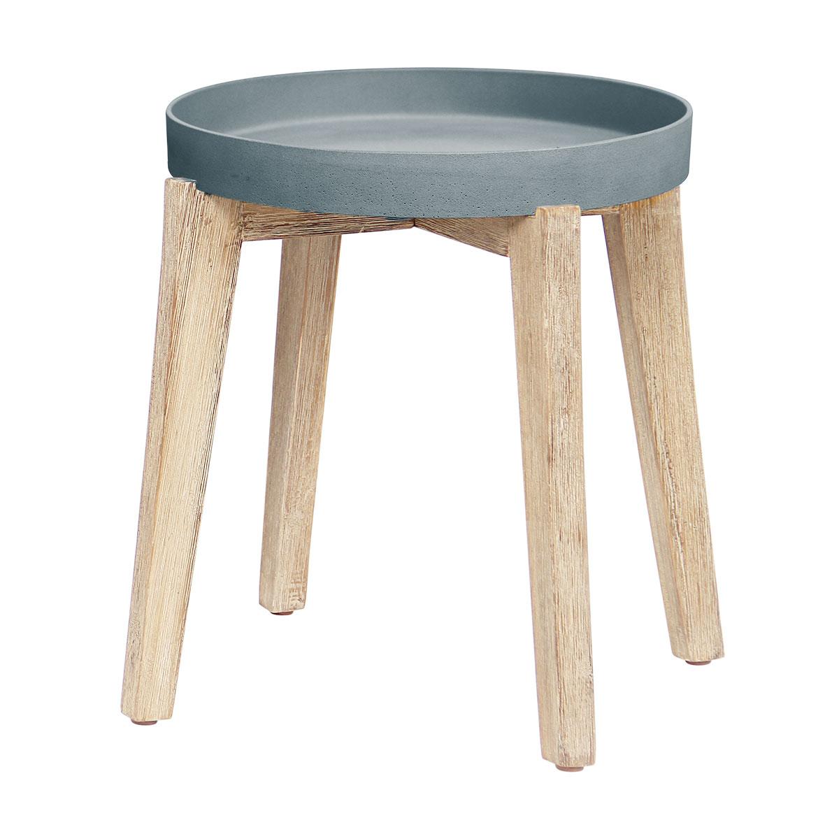 Table basse Gypso gris en bois et grès SANDSTONE