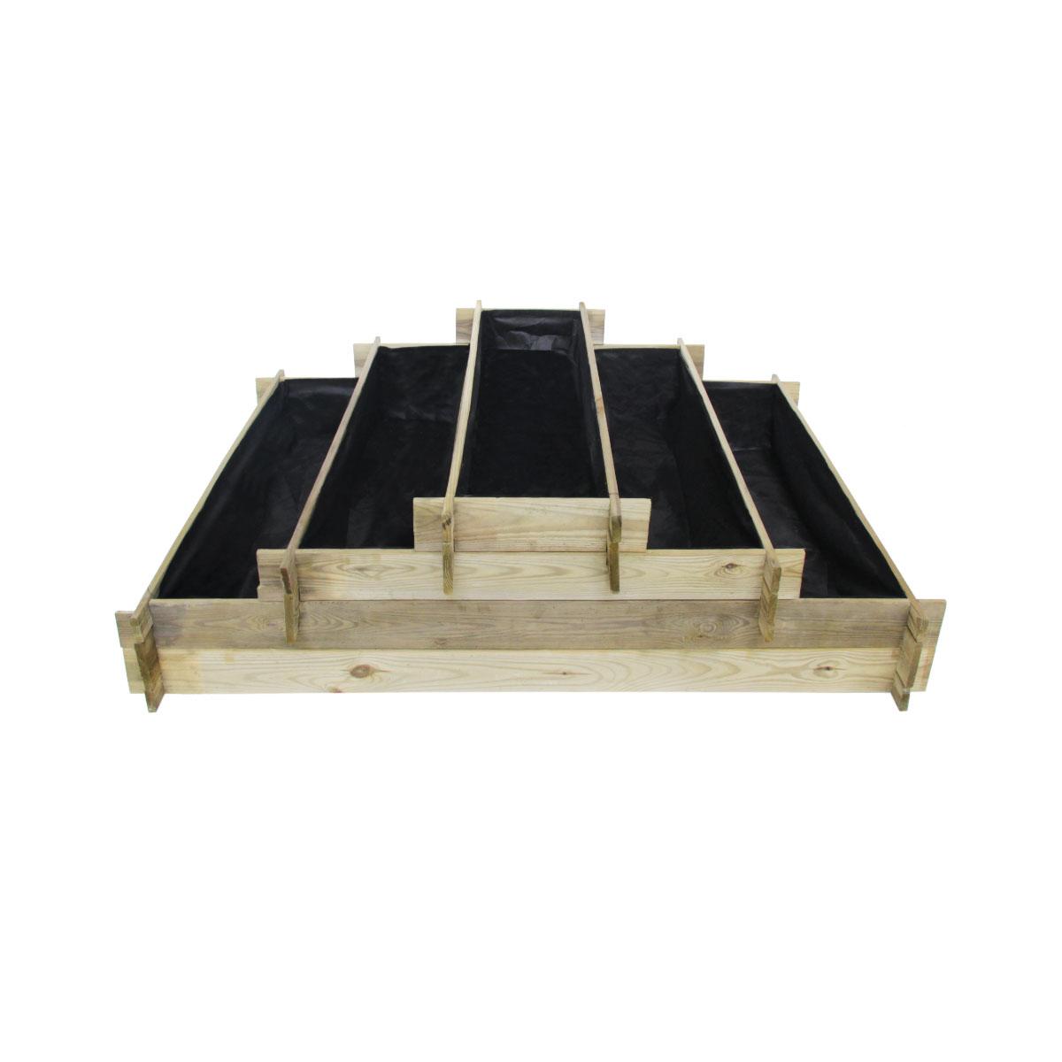 Potager pyramide en bois