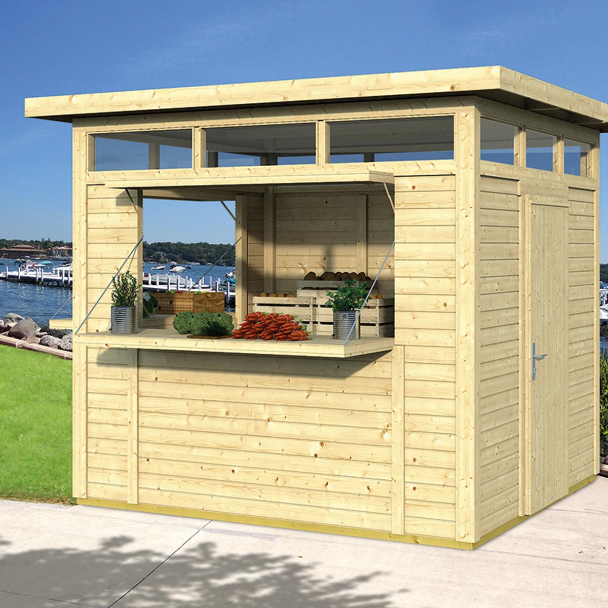 Kiosque moderne 6,7 m² - 19 mm