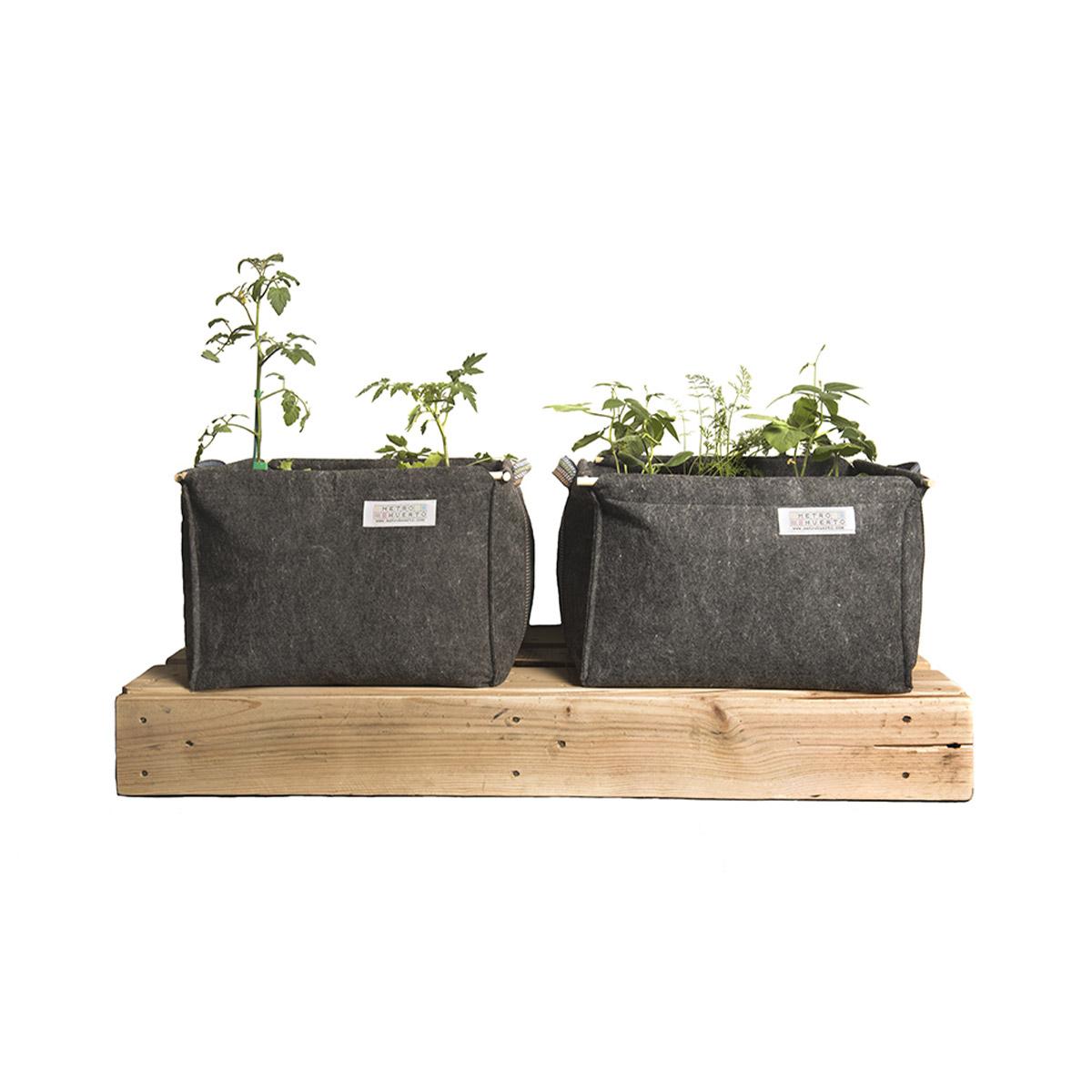 Jardinière bac à fleurs en géotextile 50 x 50 x 30 cm