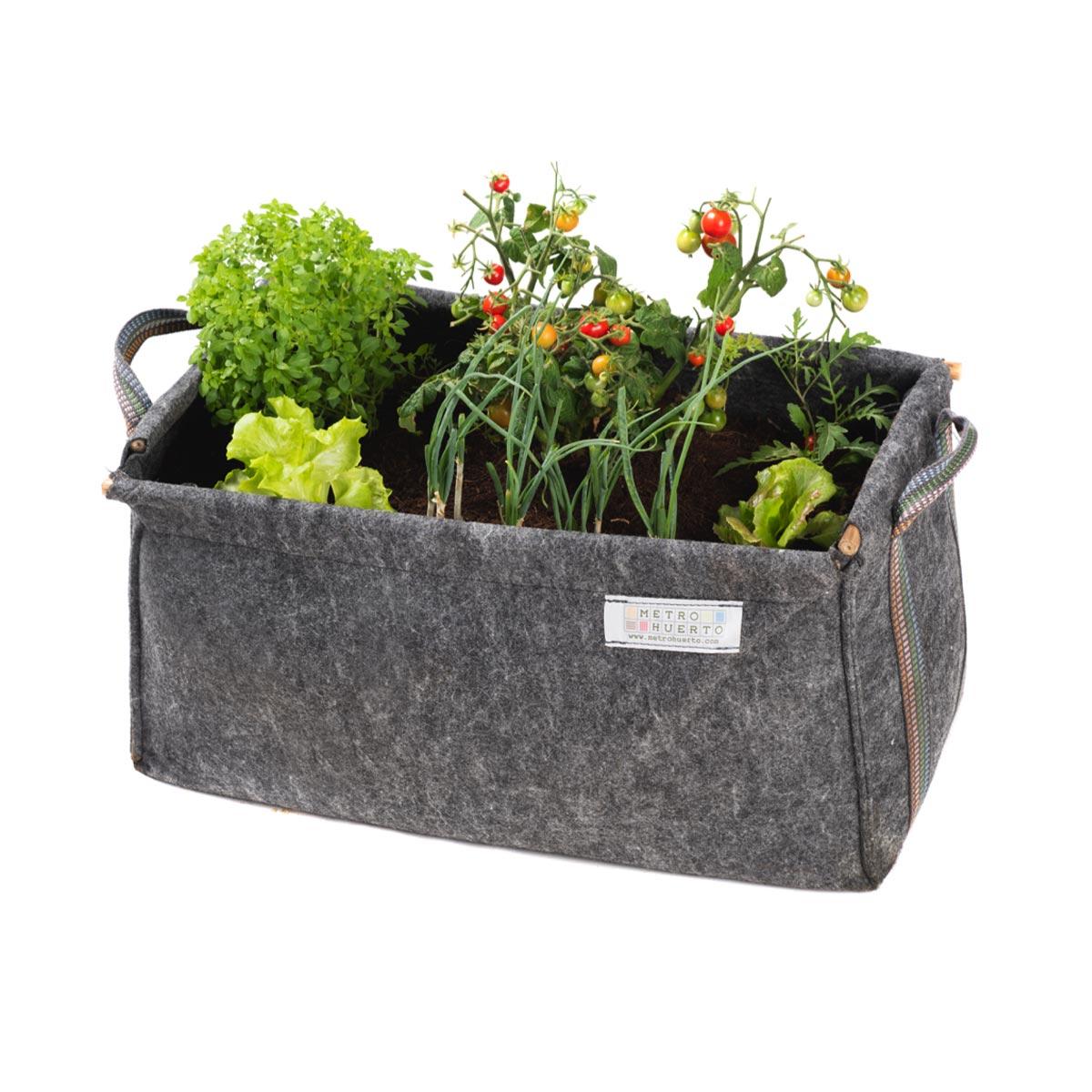Jardinière bac à fleurs en géotextile 60 x 30 x 30 cm
