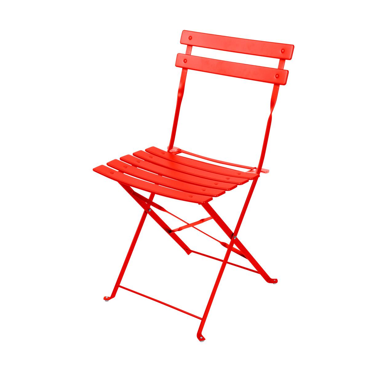 Chaise pliable en acier Mistral groseille