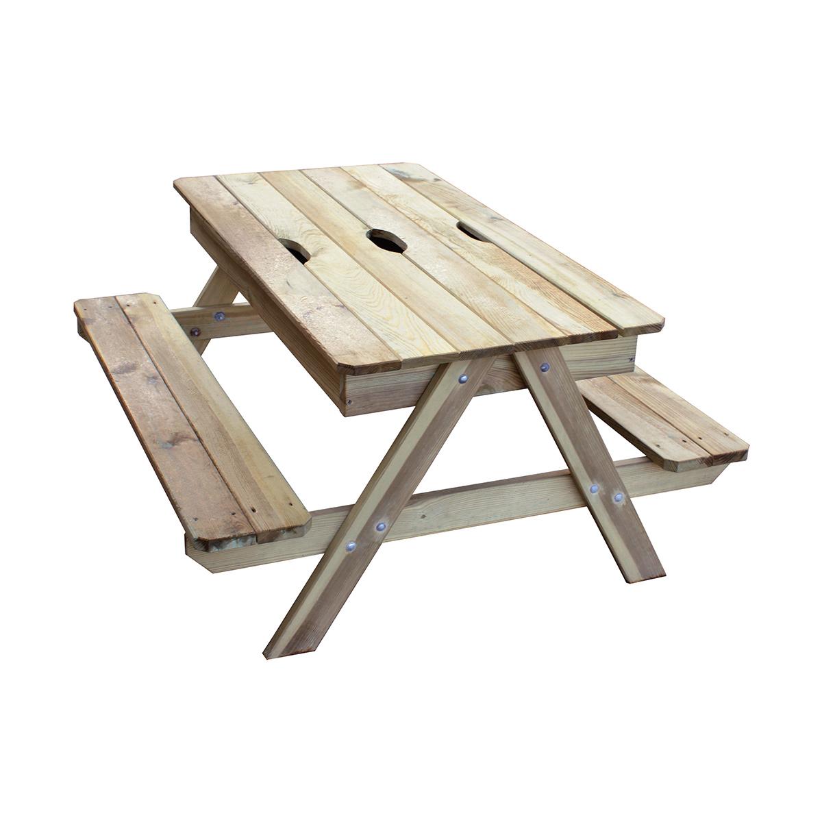 Table Pique nique enfant avec bac à sable - trigano