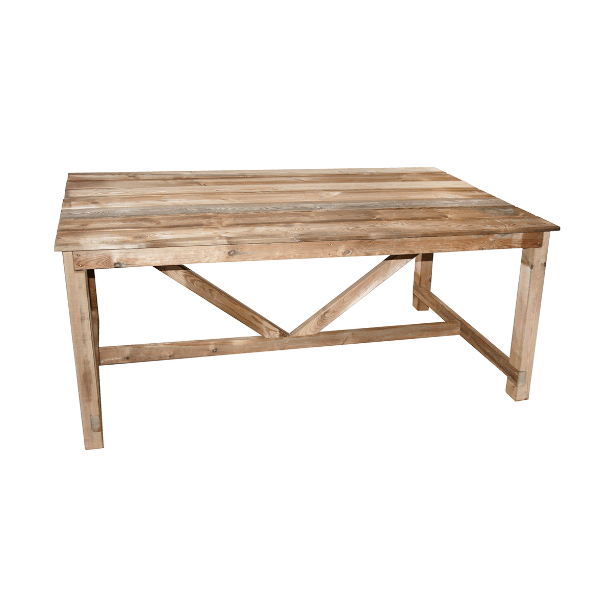 Table de jardin en bois normand