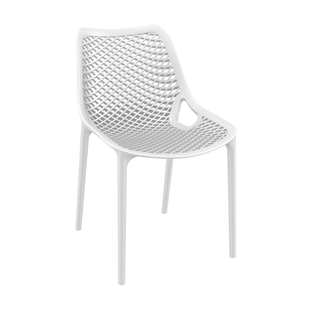 Chaise air blanc en polypropylène renforcé - siesta