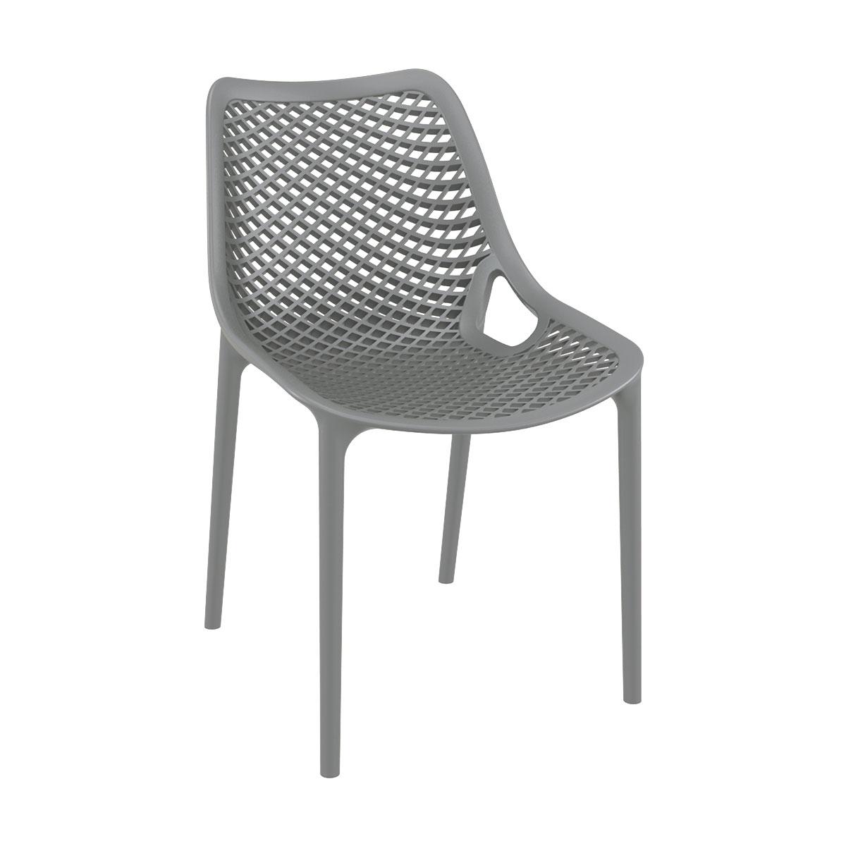 Chaise air gris en polypropylène renforcé - siesta
