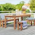 Salon de jardin table + 2 bancs en bois - 8 places