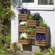 Etagère à plantes murale en bois 7 bacs