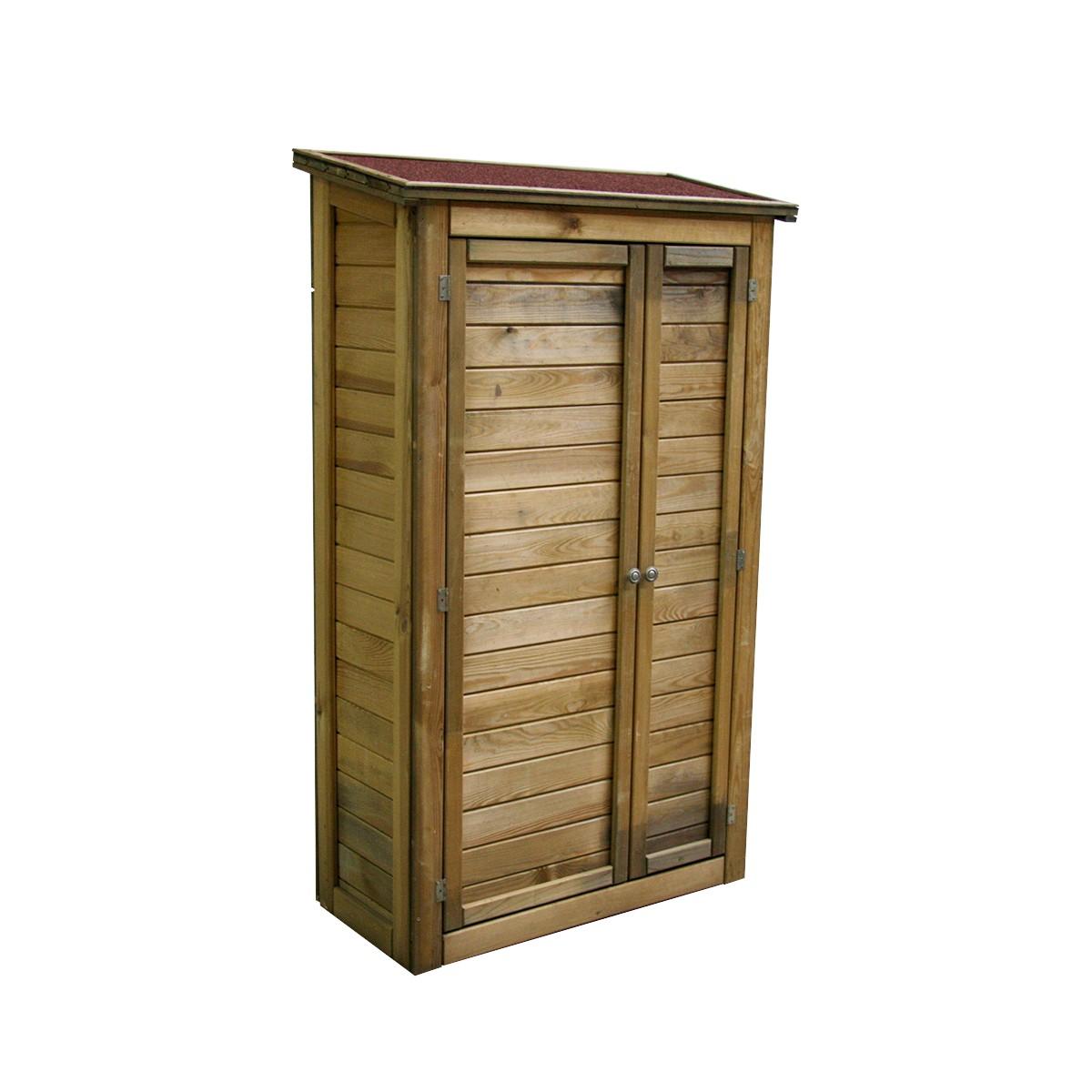 Grande Cabane De Jardin Pas Cher armoire de rangement en bois lisboa grand modèle - achat
