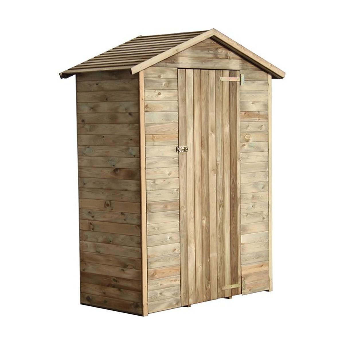 Refaire Un Toit D Abri De Jardin abri de rangement en bois chloé 1.05 m² - achat/vente d