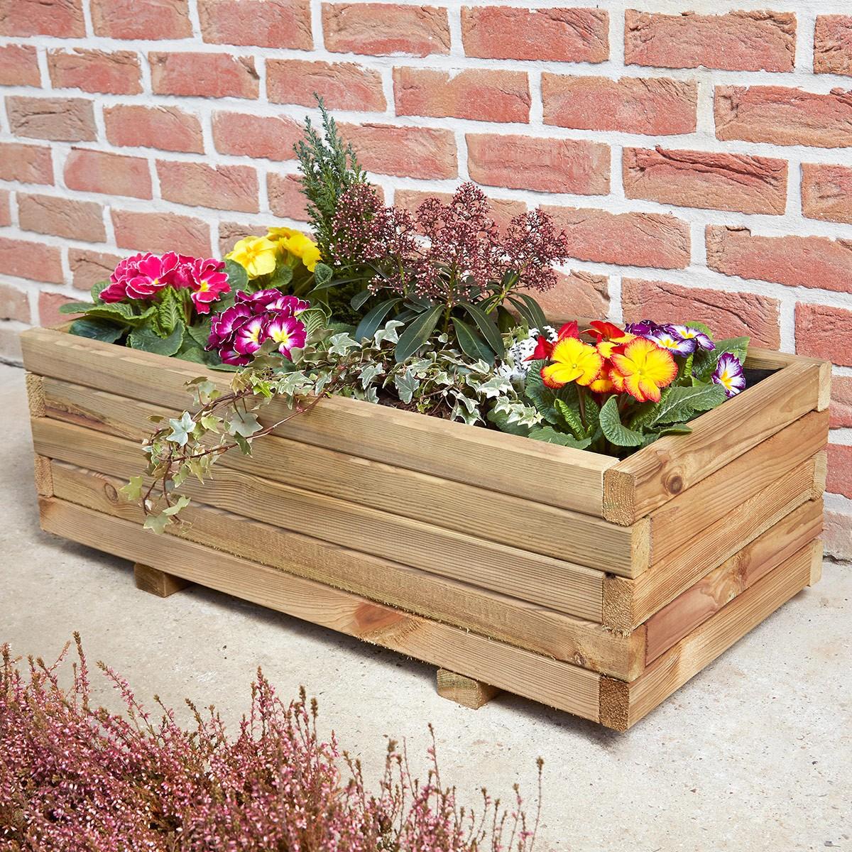 jardiniere rectangulaire primo 80
