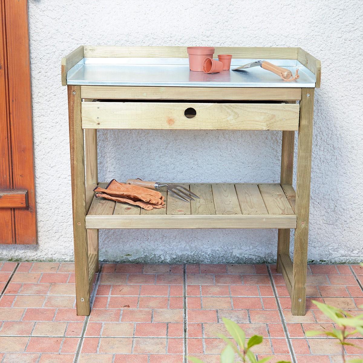 Table de préparation Bleuet en bois