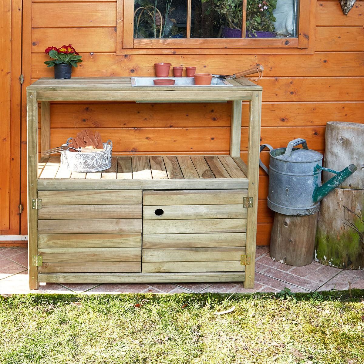Table de rempotage Œillet en bois