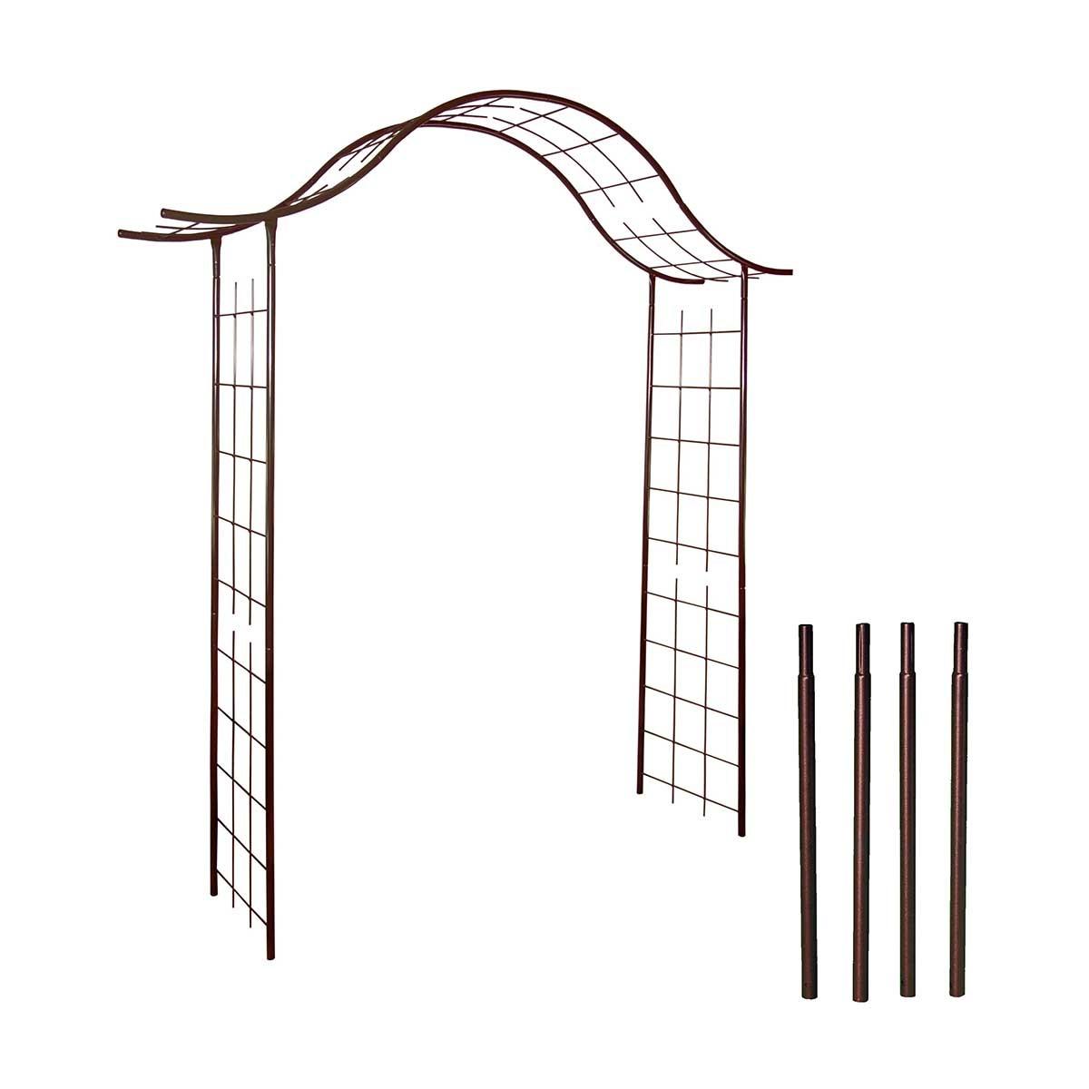 Pergola portique en fer + 4 supports à enfoncer - Louis Moulin