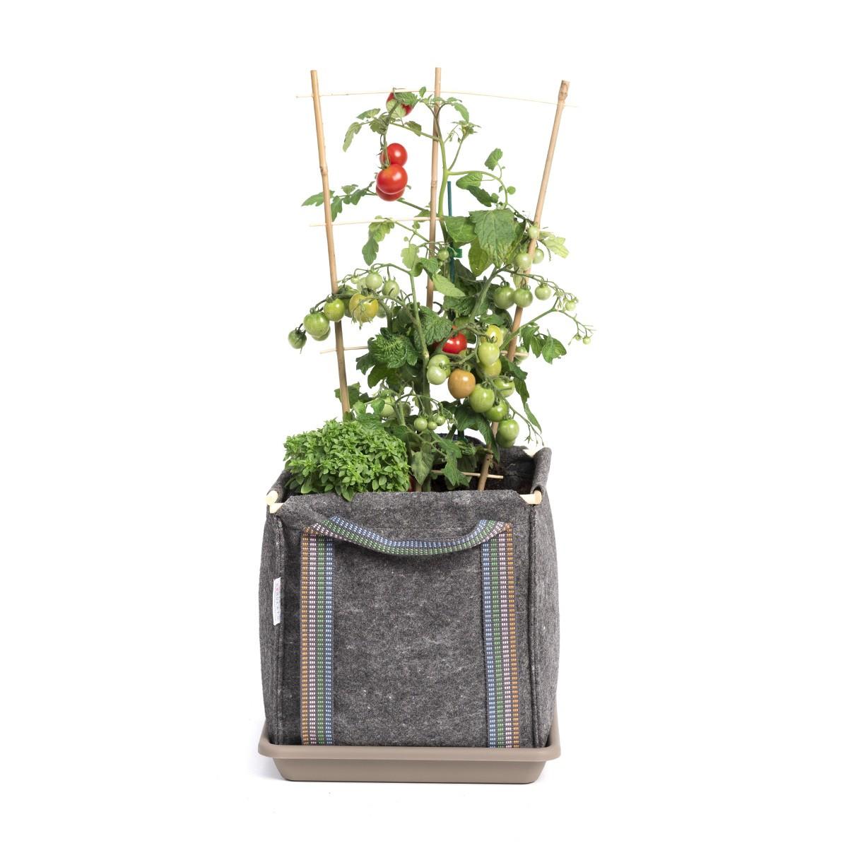 Jardinière bac à fleurs en géotextile 30 x 30 x 30 cm