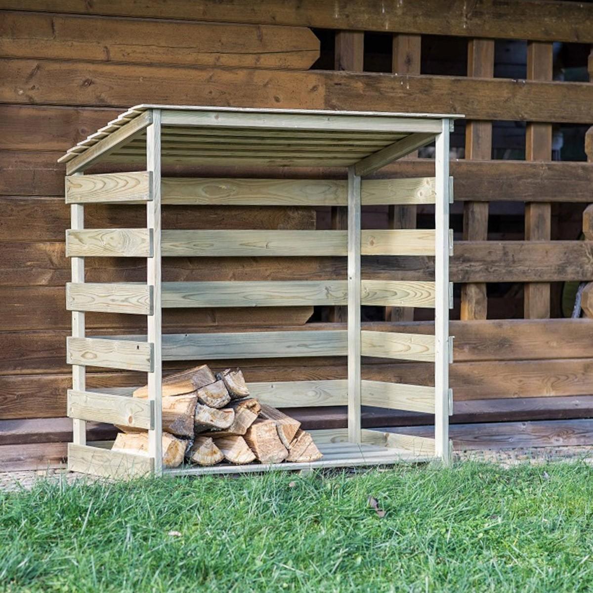 Abri bûches en bois Megève - 0,7 stère