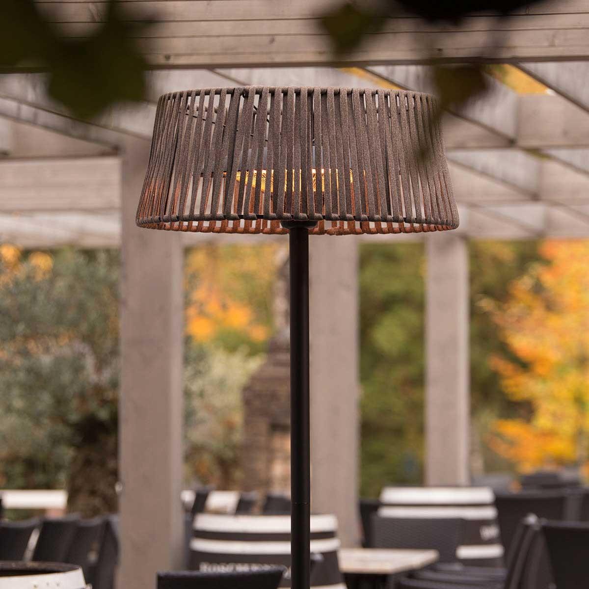 Lampadaire chauffant en corde Artix 2100 W halogène avec LED - Sunred
