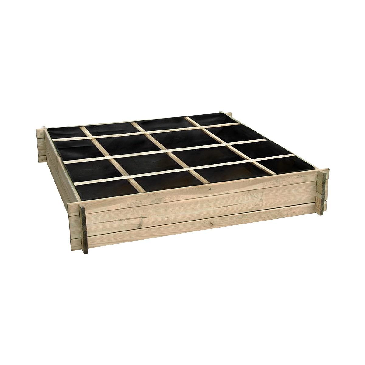 Fabriquer Potager Carré En Bois carré potager divisé en bois grand modèle - achat/vente de