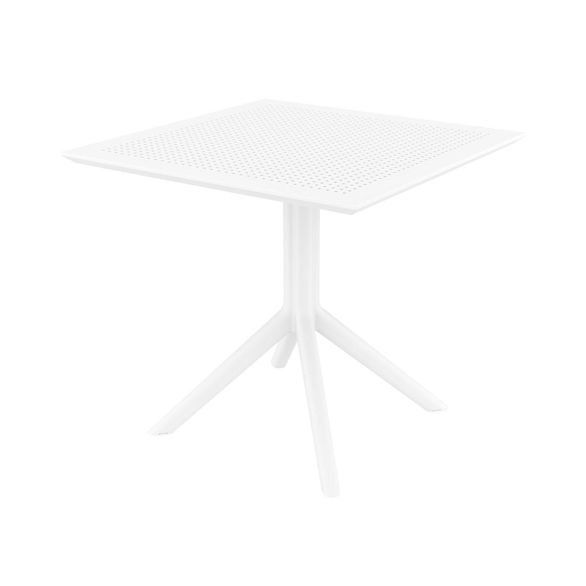 Table SKY blanc en polypropylène renforcé - Siesta