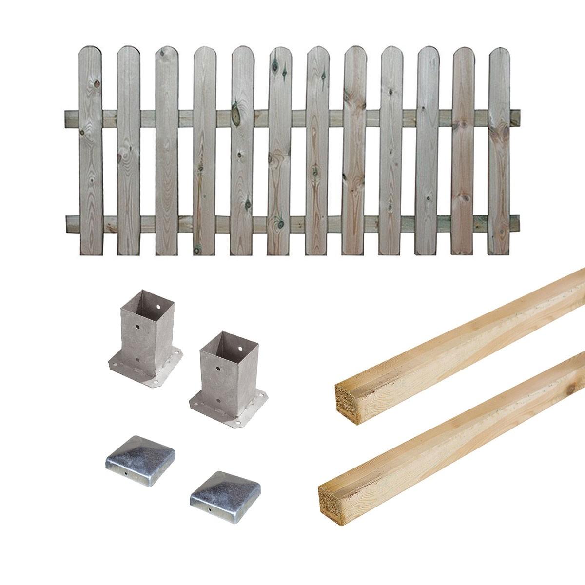 Kit barrière en bois Coquelicot H 100 cm à fixer
