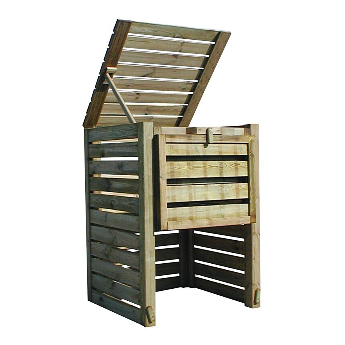 Bac à compost en bois Colorado grand modèle - 800 L
