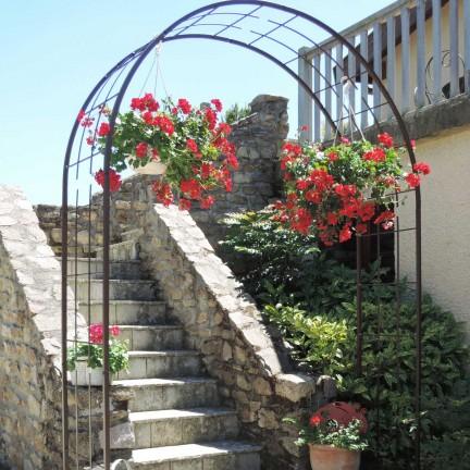 Arche de jardin treillage en fer grand modèle + 4 supports à enfoncer - Louis Moulin