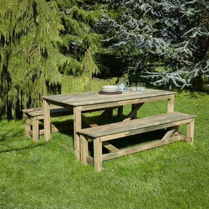 Salon de jardin en bois Normand 6 places