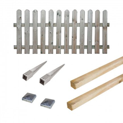 Kit barrière en bois Coquelicot 100 cm à enfoncer