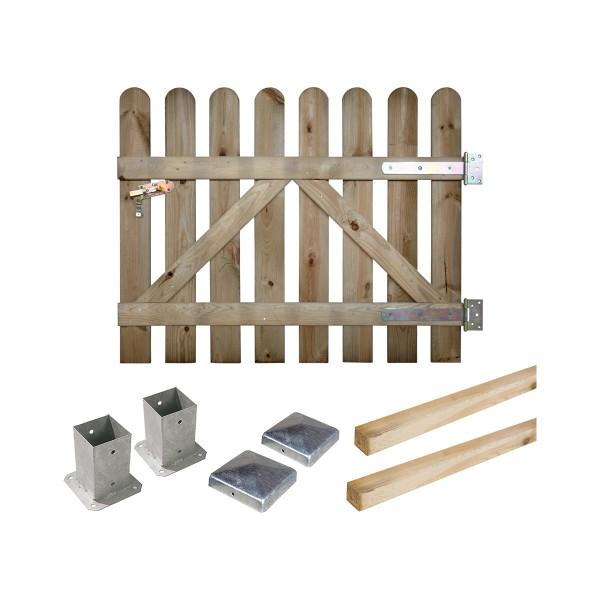 Kit portillon en bois Coquelicot H 80 cm à fixer