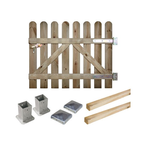 Kit portillon Coquelicot H 100 cm en bois à fixer